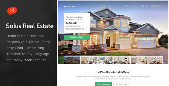 ThemeForest Solus Single Property Theme 10318886