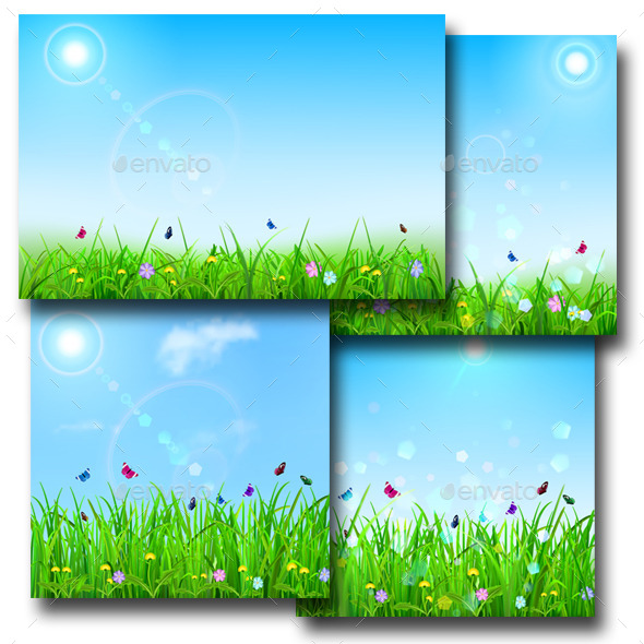 GraphicRiver Spring Backgrounds 10318999