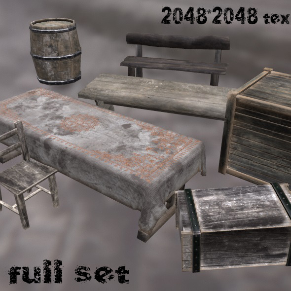 3DOcean MediEvil Set 10319012