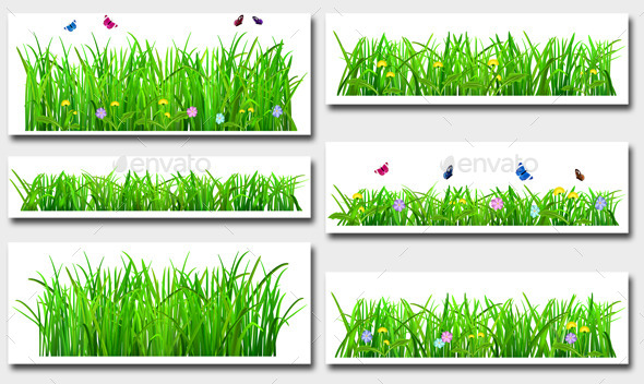GraphicRiver Set of Green Grass 10319048