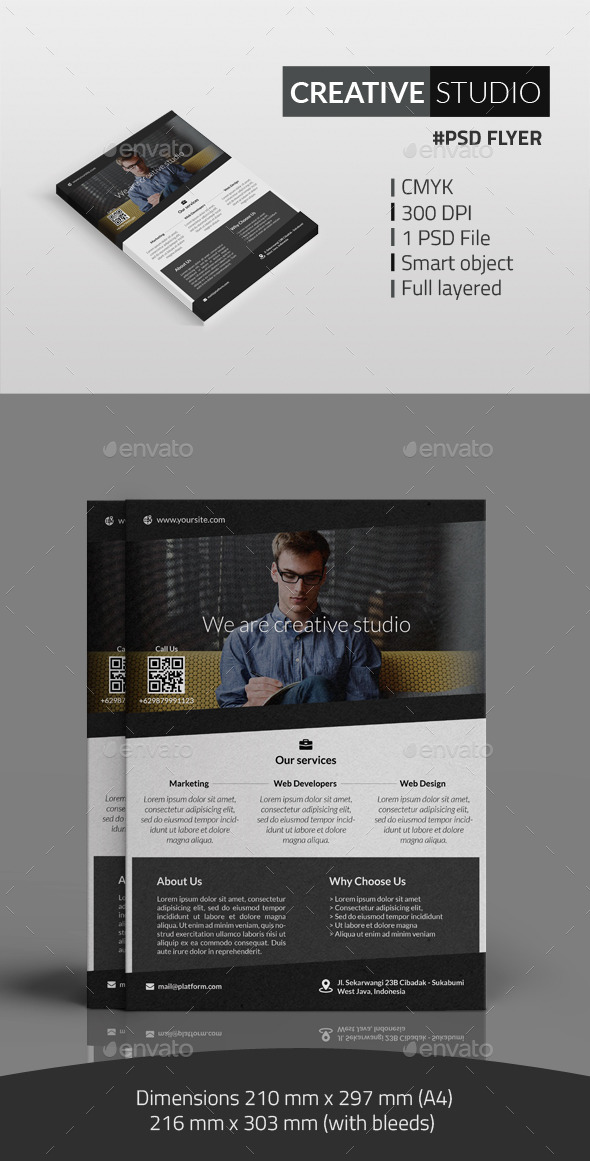 GraphicRiver Creative Studio Flyer 10319212