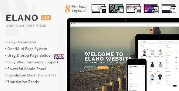 Elano - Multi-Purpose Business & Ecommerce WordPress Theme