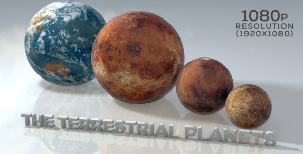 Marble Terrestrial Planets by SpaceStockFootage | VideoHive