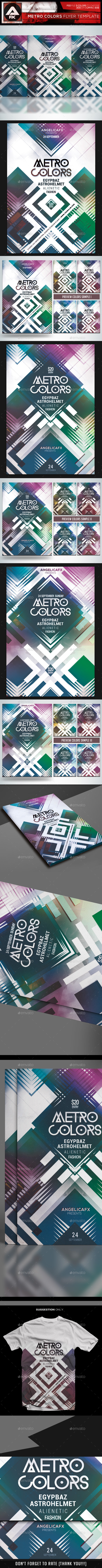 GraphicRiver Metro Colors Flyer Template 10319299
