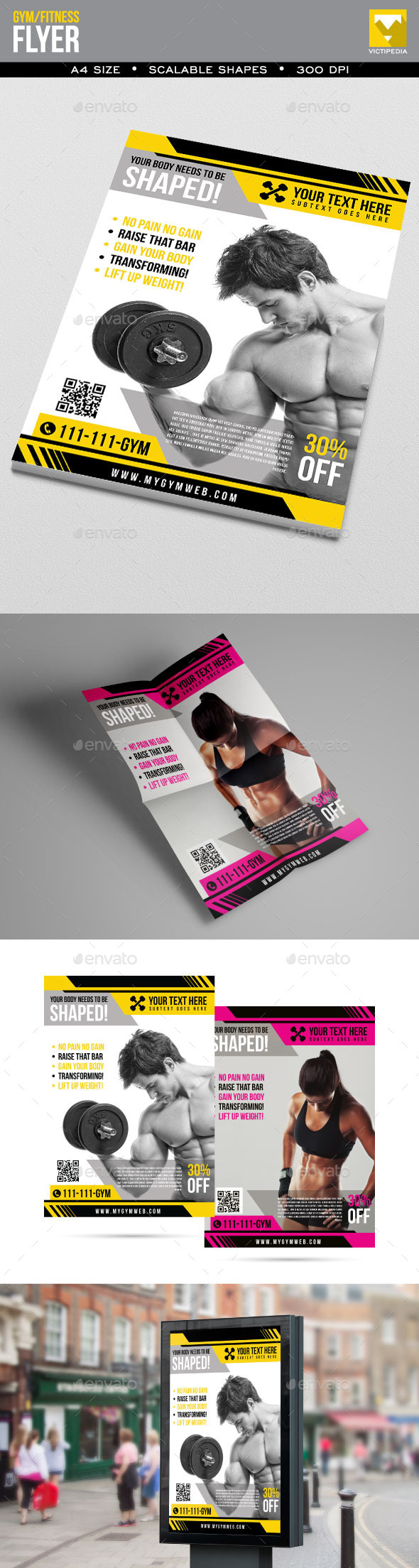 GraphicRiver Simple Gym Fitness Flyer 10319312