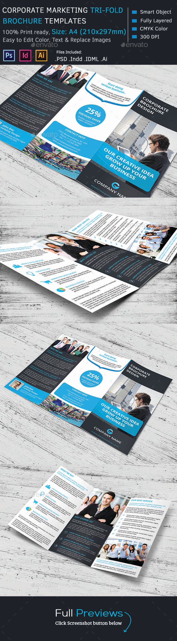 GraphicRiver Corporate Marketing Tri-Fold Brochure 10319464