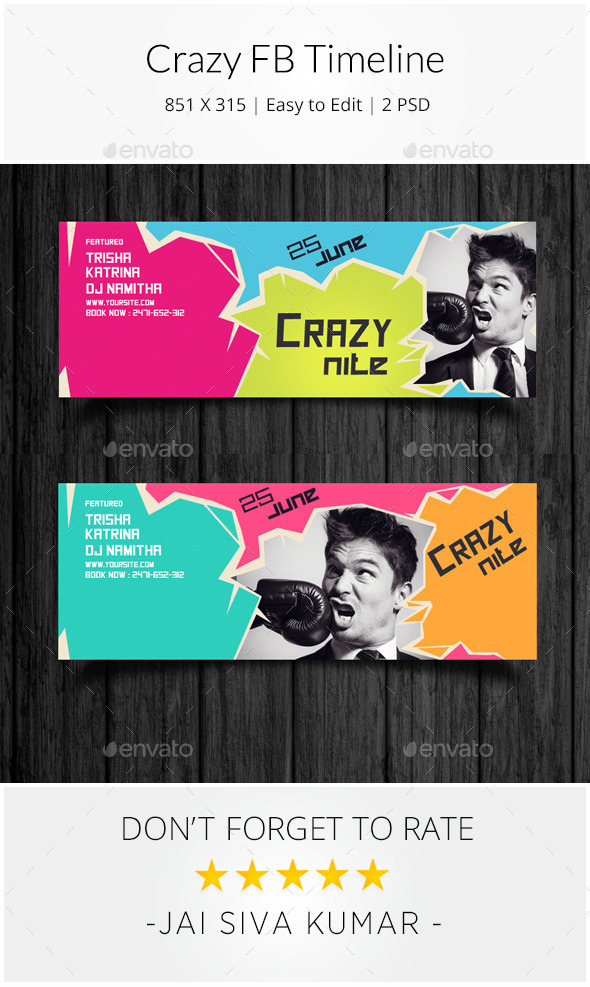 GraphicRiver Crazy Facebook Timeline 10320189