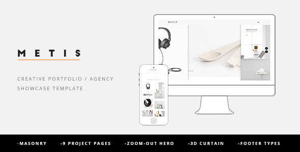 ThemeForest Metis Creative Portfolio Agency Template 10282106