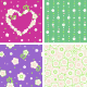 Seamless Spring and Valentine Day Floral Patterns - GraphicRiver Item for Sale