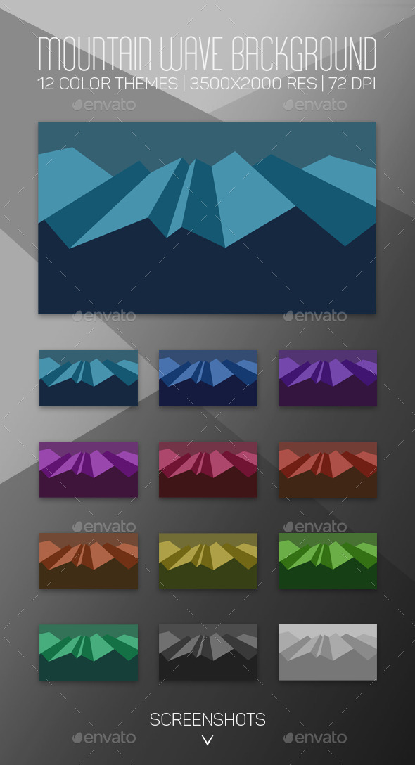 GraphicRiver Mountain Wave Background 10320251