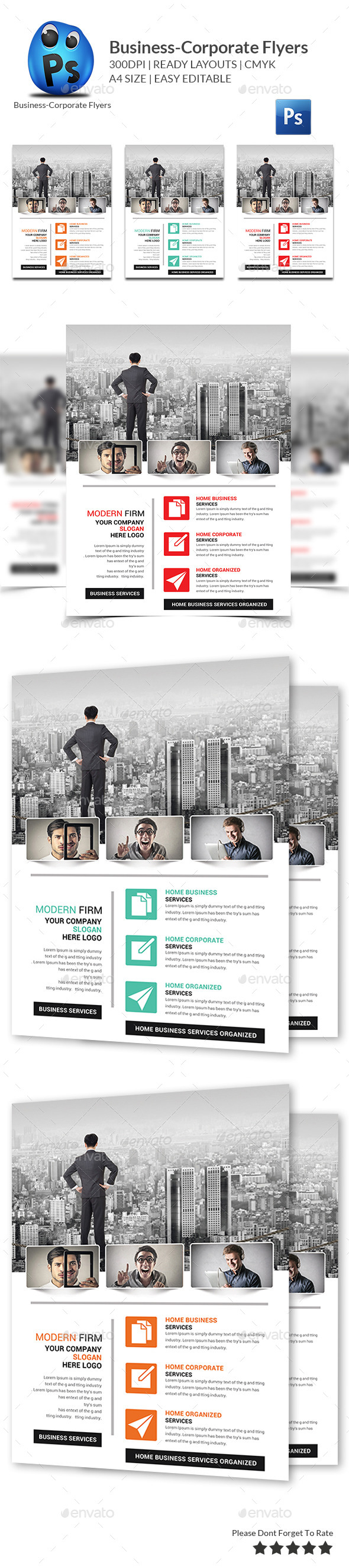 GraphicRiver Corporate Business Flyer Template 10320278