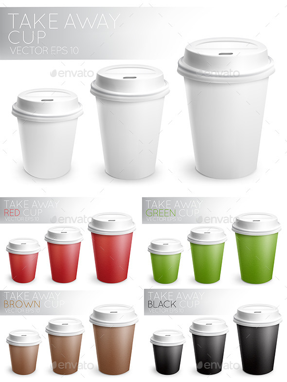 GraphicRiver Take Away Paper Cups 10320299