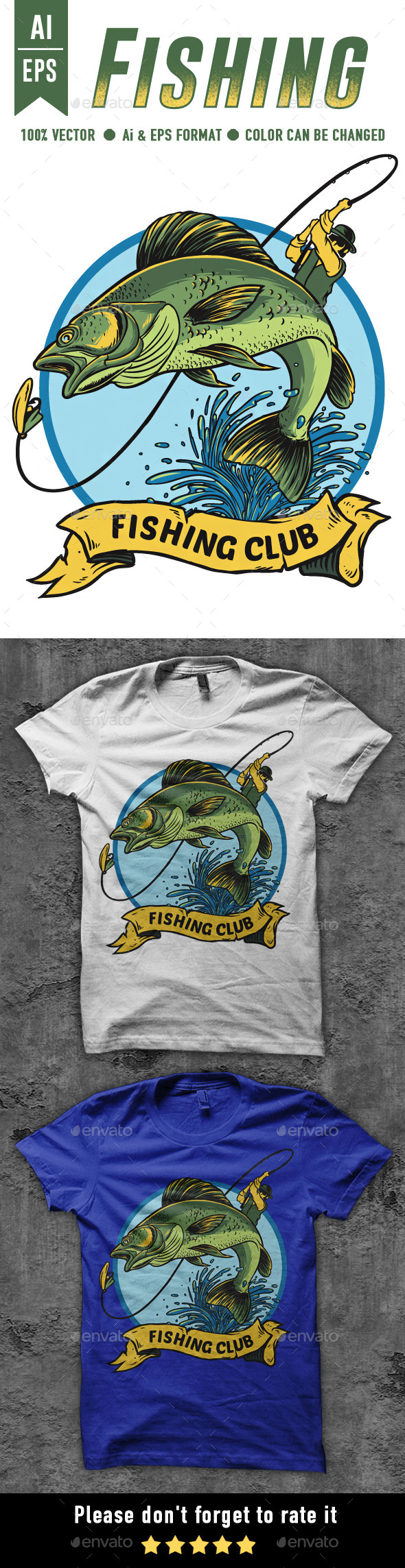GraphicRiver Fishing T-shirt Design 10269712