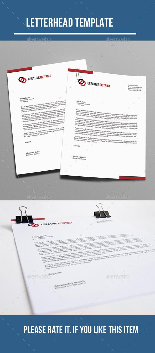 GraphicRiver Letterhead 10321078