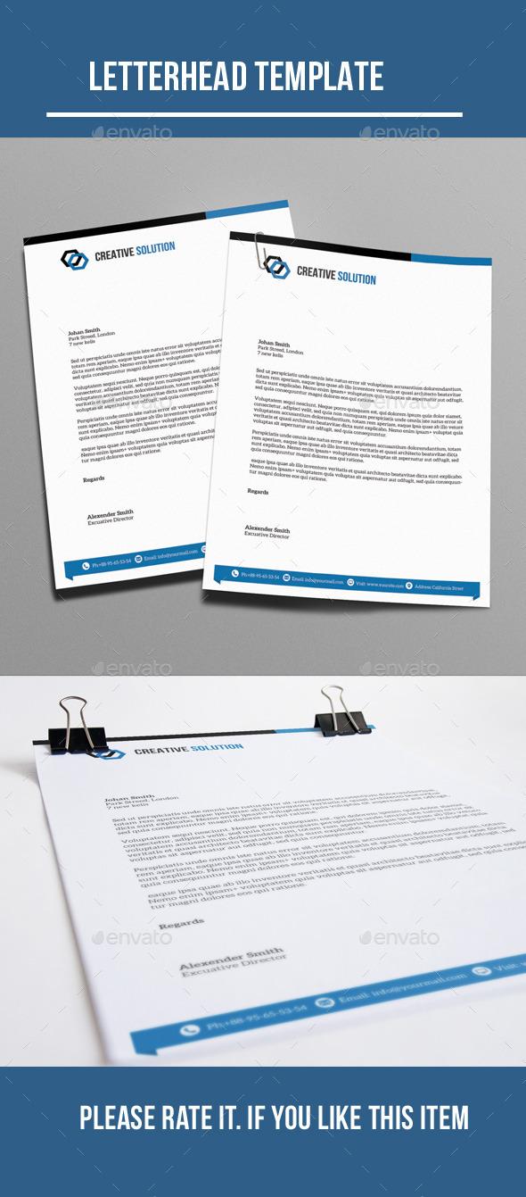 GraphicRiver Letterhead 10321124