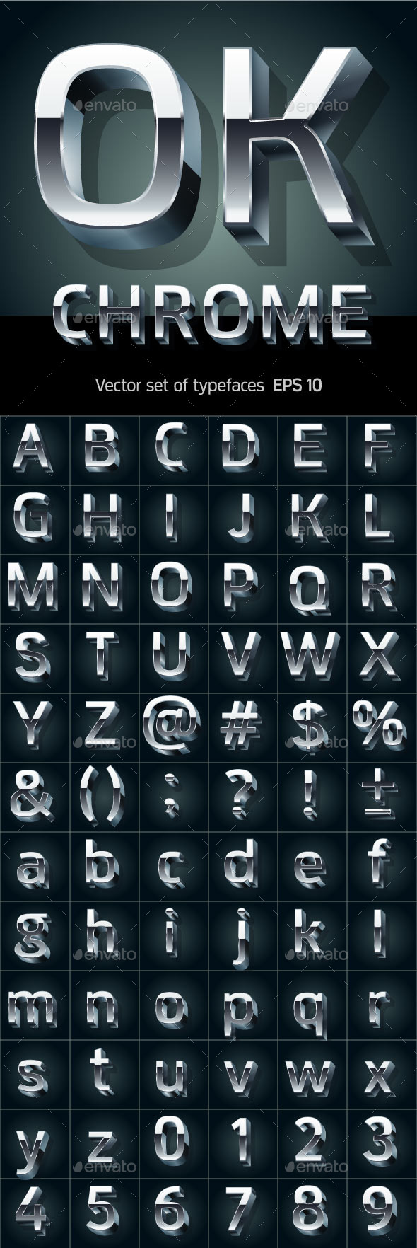 GraphicRiver Illustration of Silver or Aluminum 3D Alphabet 10321539