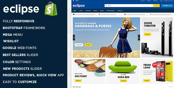 Eclipse - Responsive Shopify Theme - Shopping Shopify