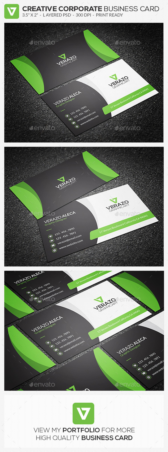 GraphicRiver Creative Corporate Business Card 75 10321673