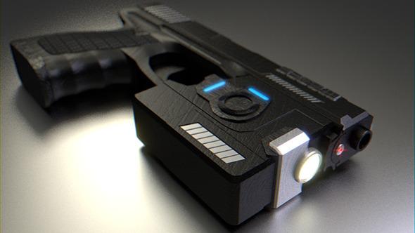 3DOcean Sci-Fi Handgun 10296273