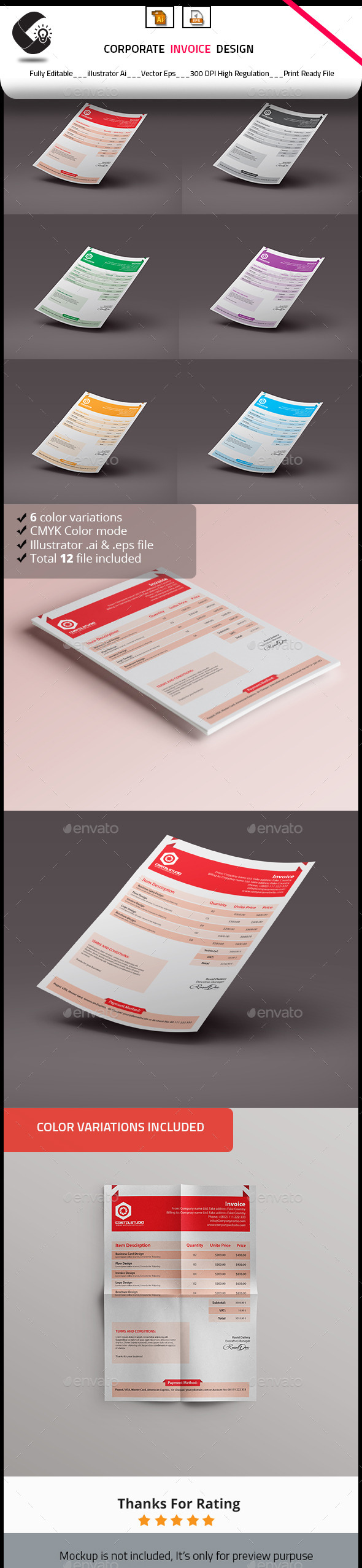 GraphicRiver Customisable Invoice Template 10321946