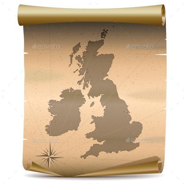 GraphicRiver Vector United Kingdom Vintage Map 10322210