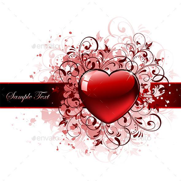 GraphicRiver Grunge Heart 10322326