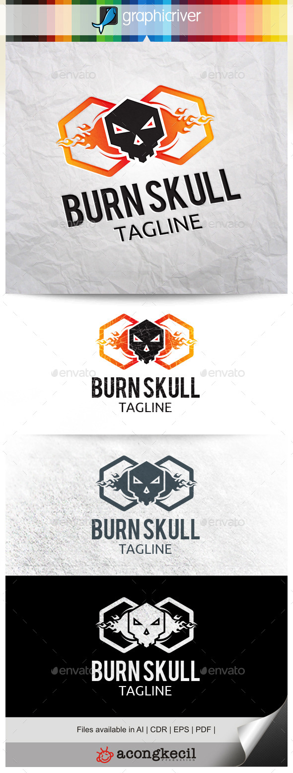 GraphicRiver Burn Skull V.2 10322427