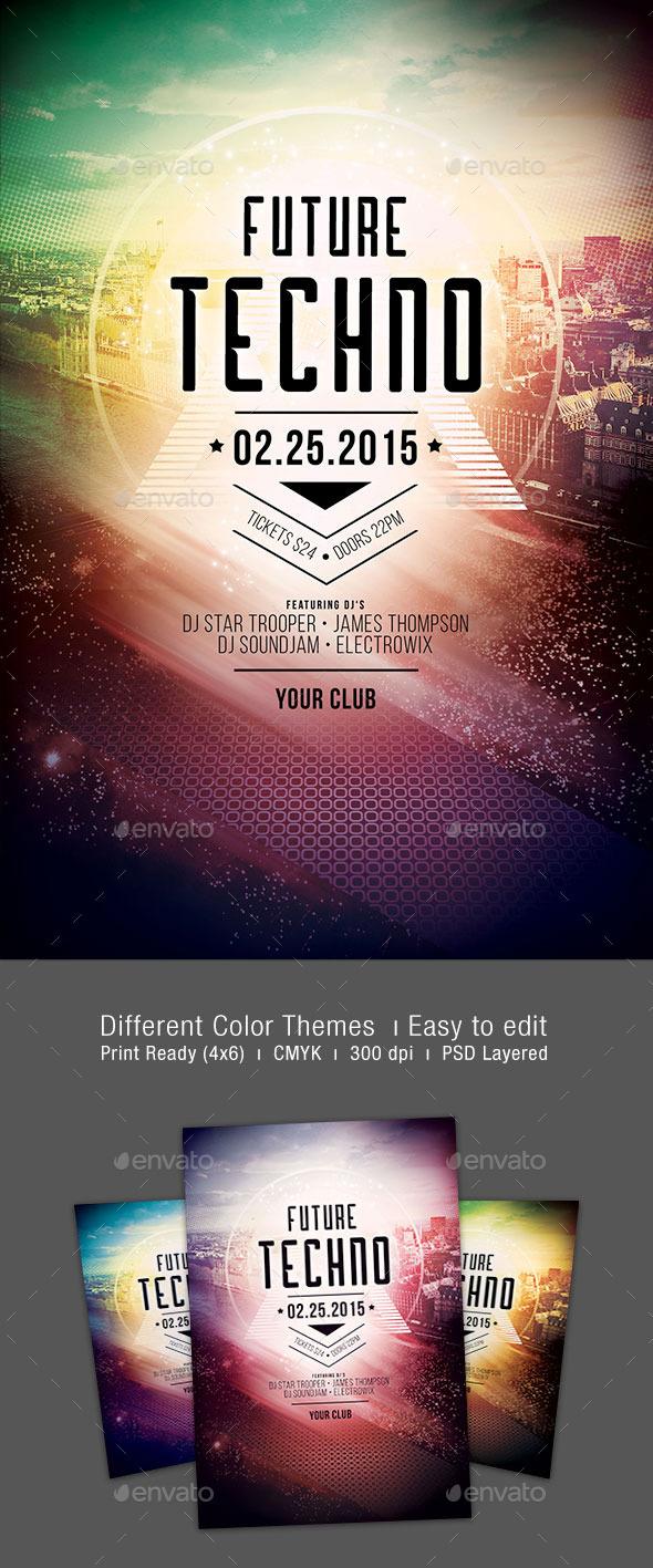GraphicRiver Future Techno Flyer 10322629