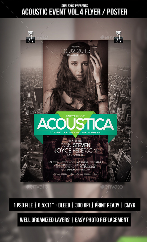 GraphicRiver Acoustic Event Flyer Poster Vol.4 10322916