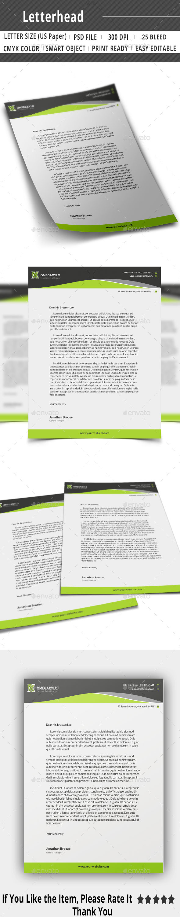 GraphicRiver Corporate Letterhead 10322950