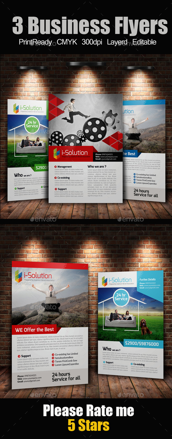 GraphicRiver 3 Business Flyers Bundle 10323057