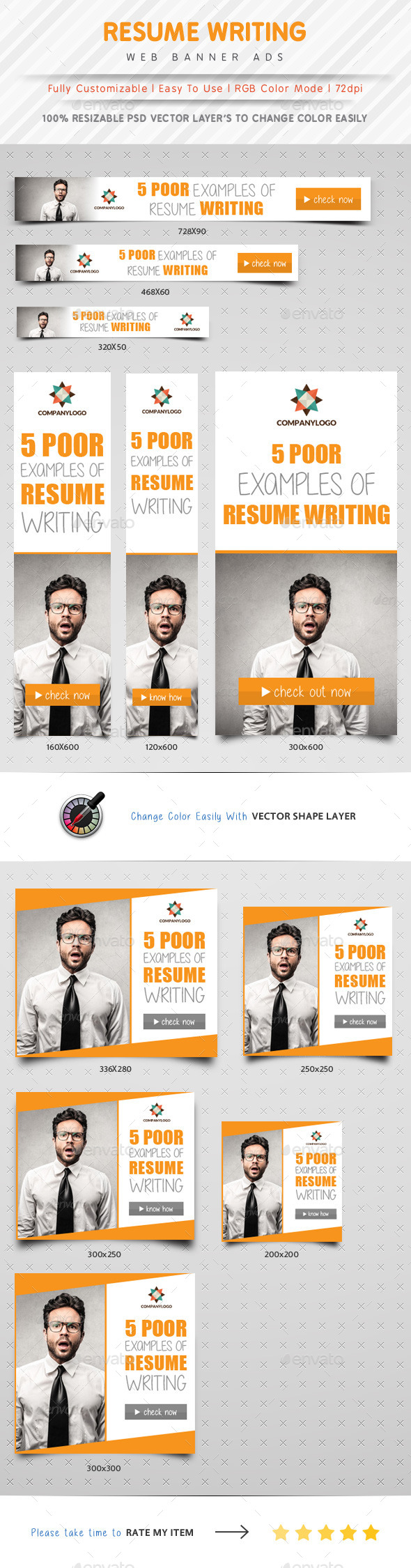 GraphicRiver Resume Writing Web Banner Ads 10323143