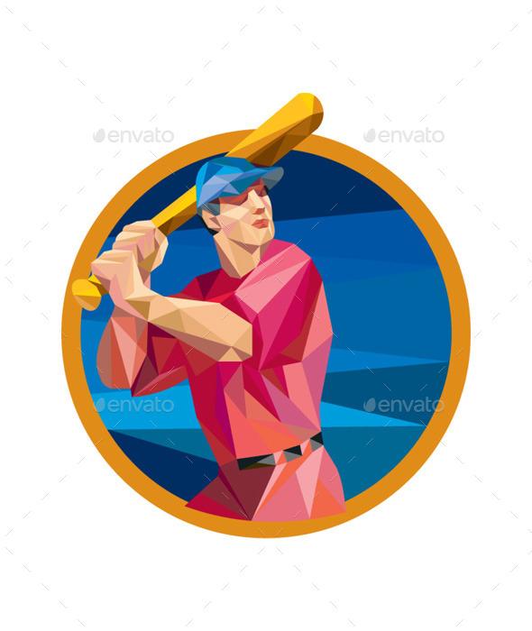GraphicRiver Baseball Circle Low Polygon 10323145