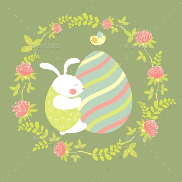GraphicRiver Easter Bunny and Easter Egg 10323160