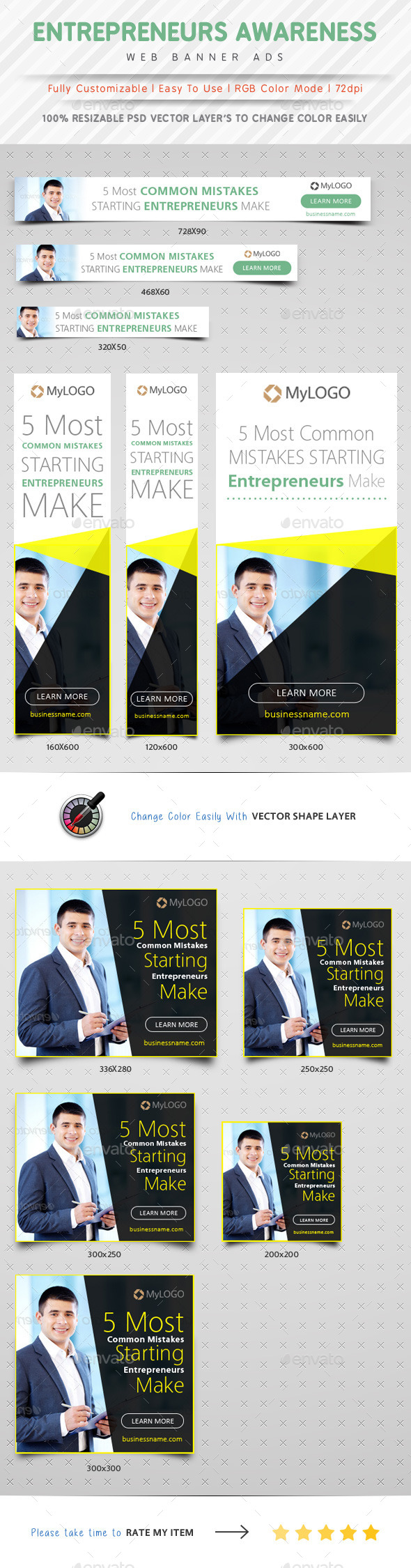 GraphicRiver Entrepreneurs Awareness Web Banner Ads 10323176