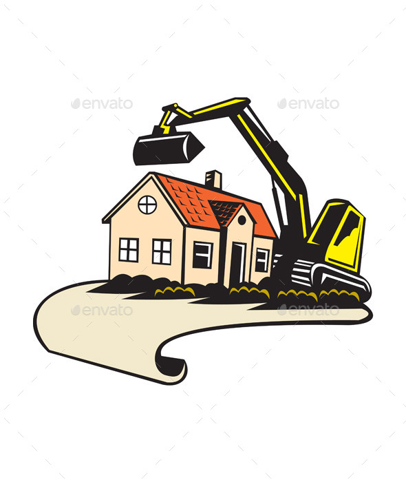 GraphicRiver House Demolition Building Removal 10323285