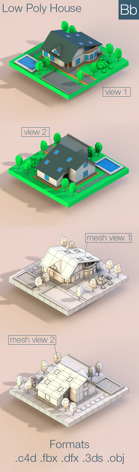 3DOcean Low Poly House 10323488