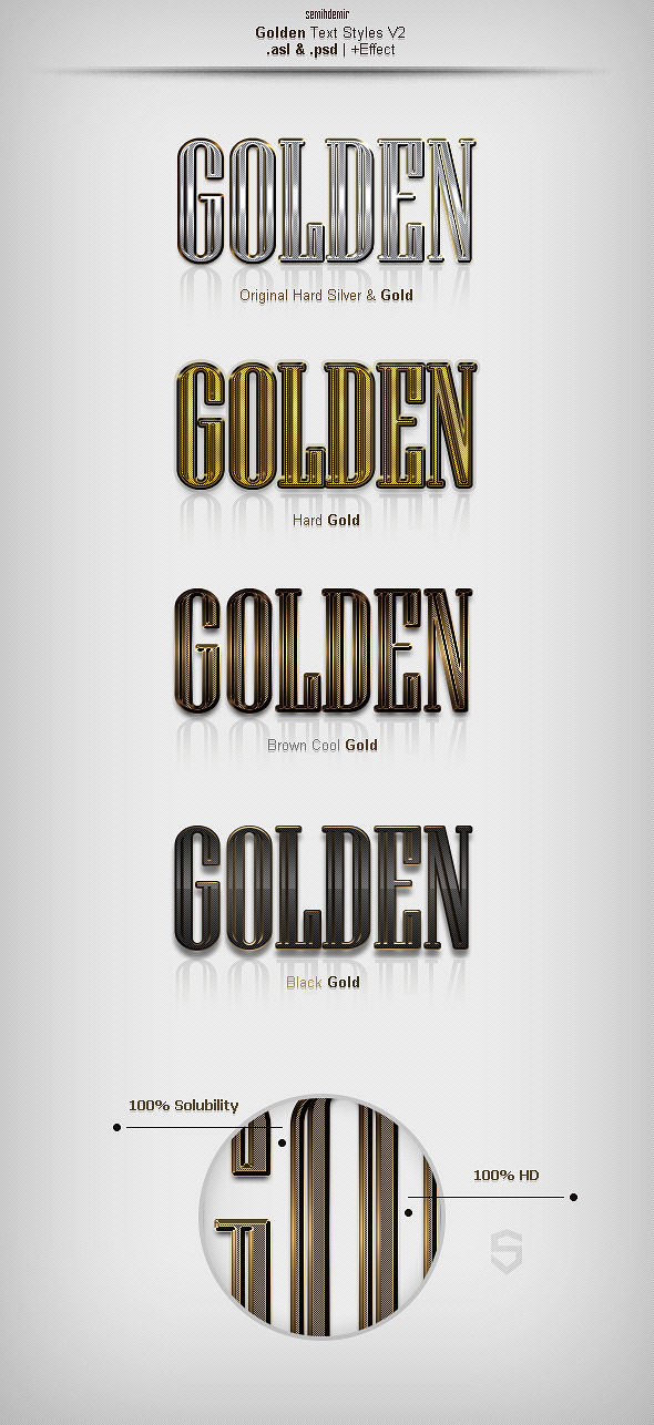 GraphicRiver Golden Text Styles V2 10323489