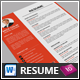 One Pages Resume Template - GraphicRiver Item for Sale