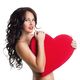 Beautiful girl with big heart in hands - PhotoDune Item for Sale