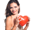 Young woman portrait with heart balloon - PhotoDune Item for Sale