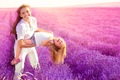 Family on the lavender field - PhotoDune Item for Sale