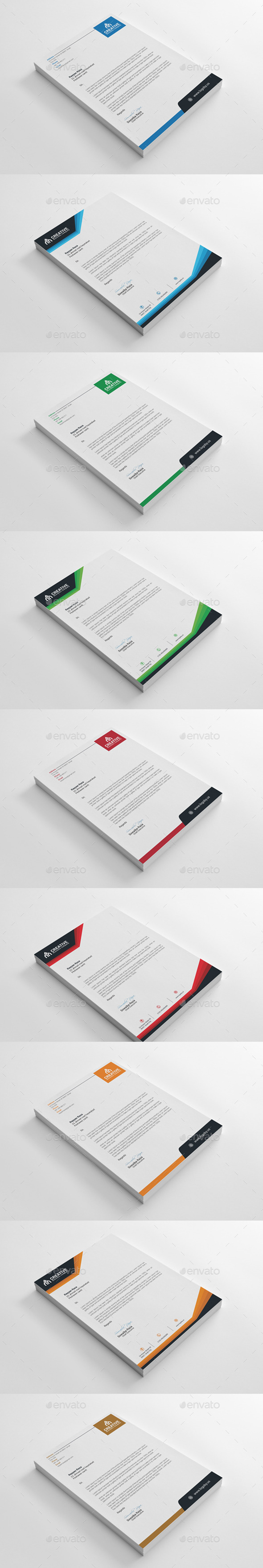 GraphicRiver Letterhead Bundle Collection 10323519