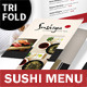 Sushi Bar Trifold Menu - GraphicRiver Item for Sale