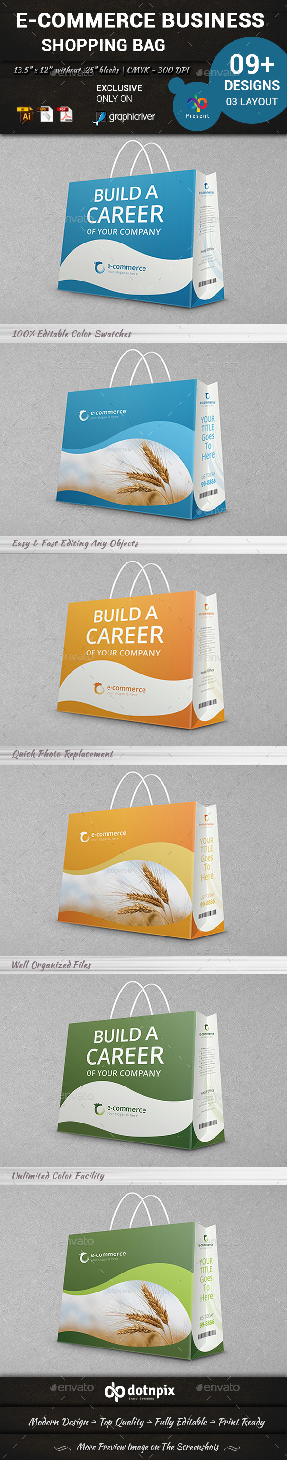 GraphicRiver E-Commerce Business Shopping Bag 10324589