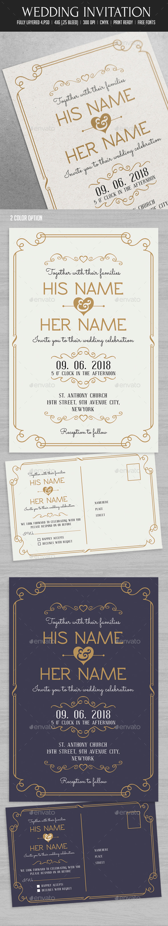 GraphicRiver Wedding Invitation 10324819
