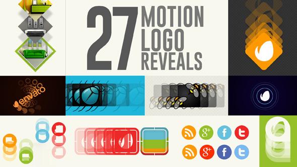 AE模板:27组扁平化风格 运动图形MG 简单实用 企业公司片头logo展示模板