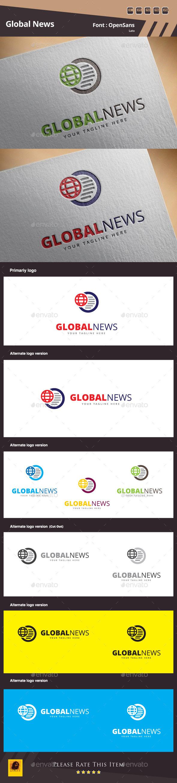 GraphicRiver Global News Logo Template 10324968