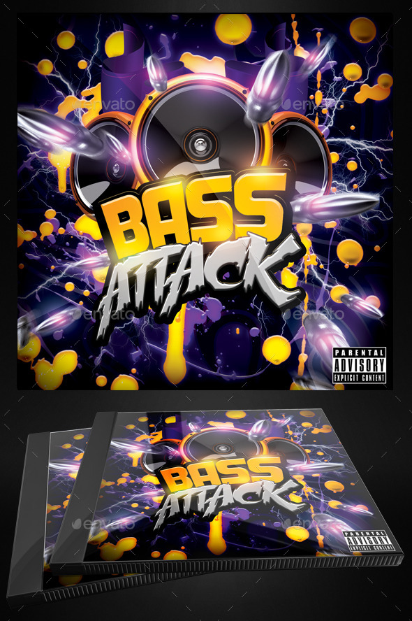 GraphicRiver Bass Attack Electro Flyer or CD Template 10325068