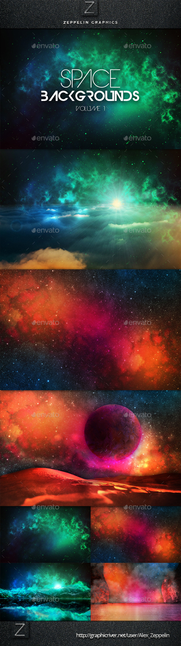 GraphicRiver Space Backgrounds Vol.1 10325096